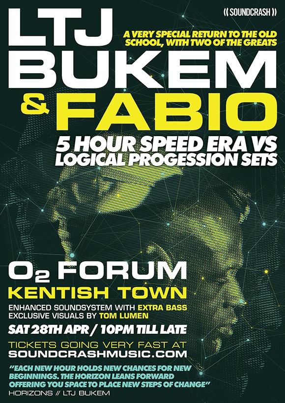 Win tickets to LTJ Bukem + Fabio @ O2 Forum Kentish Town, April 2018